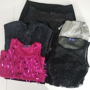 Lot Of 3 Party Tops And 3 Skirts Sz Sm